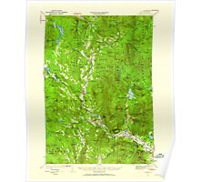 USGS TOPO Map New Hampshire NH Rumney 330326 1928 62500 Poster