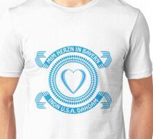 Mim Herzn in Bayern – indn USA dahoam Unisex T-Shirt