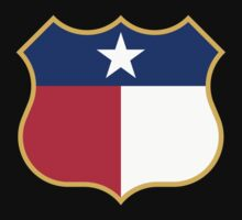 Texas Sign Shield / Tejas Signo Escudo by MrFaulbaum