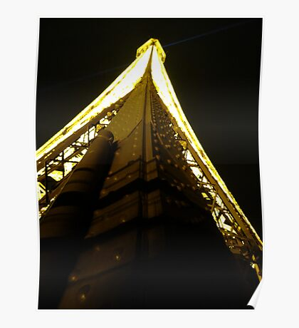 On the Eiffel Tower. Poster