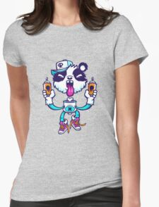 Graffiti Panda BRIGHT. Womens Fitted T-Shirt
