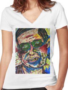 Stephen Hawking Women's Fitted V-Neck T-Shirt