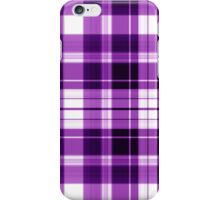 The Plaid Background - Purple iPhone Case/Skin