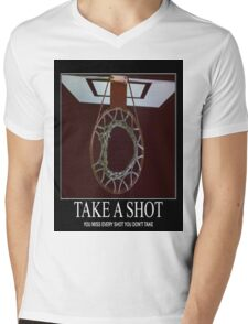Take A Shot Mens V-Neck T-Shirt