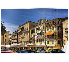 Living in Corfu Town Poster