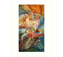 The Angels on Wedding triptych (right) Art Print