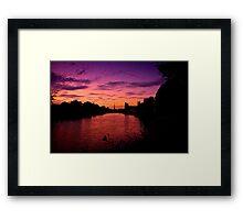 Worcester Sunset Framed Print
