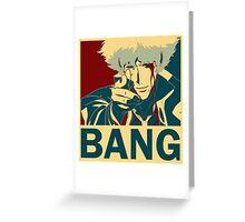 Bang - Spike Spiegel Greeting Card