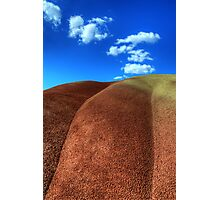 Painted Hills Blue Sky 2 Photographic Print