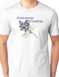 Purple Pansies for Awesome Grandma Unisex T-Shirt