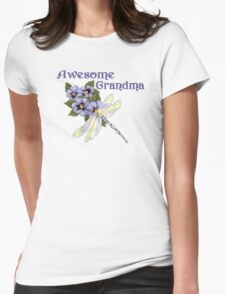 Purple Pansies for Awesome Grandma T-Shirt