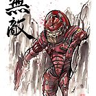 Mass Effect Urdnot Wrex Sumie style by Mycks