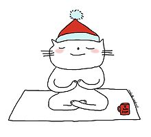 Christmas time ... just breathe yoga / Cat doodles by eyecreate