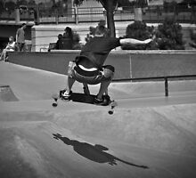 Skateboarding Jump by Reese Ferrier