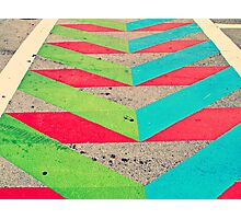 Chevron Street Pattern - Hipster Miami Florida Photographic Print