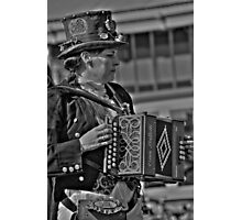The Squeeze Box player  Photographic Print
