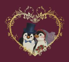 Penguin Wedding Heart by SpiceTree