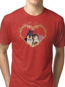Penguin Wedding Heart Tri-blend T-Shirt