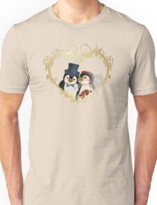 Penguin Wedding Heart Unisex T-Shirt