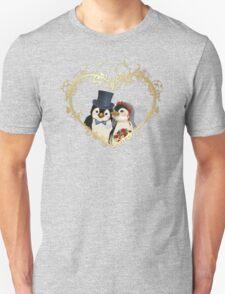 Penguin Wedding Heart T-Shirt