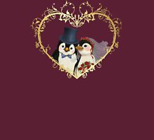 Penguin Wedding Heart Womens Fitted T-Shirt