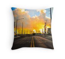 Denver Power Plant Throw Pillow