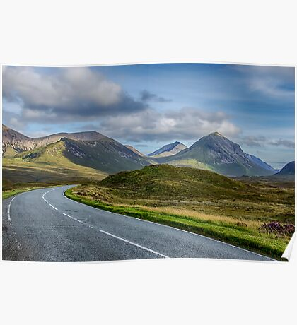 The Cuillin Mountains of Skye 2 Poster