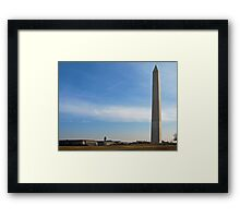Washington Monument and Dept. of Commerce on the left Framed Print