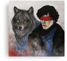 Darkling, I Listen Canvas Print