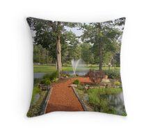 Island Garden Throw Pillow