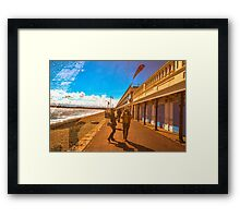 dorset beachside Framed Print