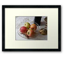 Apples. Framed Print