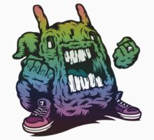Rainbow Monster Illustration. by LewisJamesMuzzy