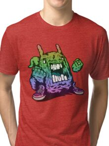 Rainbow Monster Illustration. Tri-blend T-Shirt