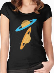 Now you're thinking with planets! Women's Fitted Scoop T-Shirt