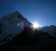 Sunrise in the Himalayas by lanesloo