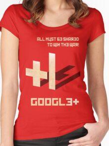 Google+ - Share Propaganda Women's Fitted Scoop T-Shirt