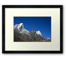 Moon over Himalayas Framed Print