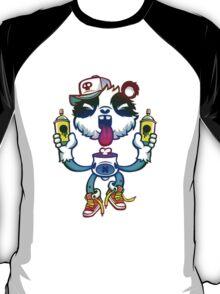 Rainbow Graff Panda. T-Shirt