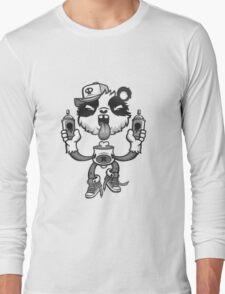 Black and White Graffiti Panda. Long Sleeve T-Shirt