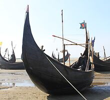 Beached Sampans by BlackhawkRogue