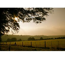 Dusk in the English Countryside Photographic Print