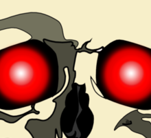 Skull With Red Eyes Sticker