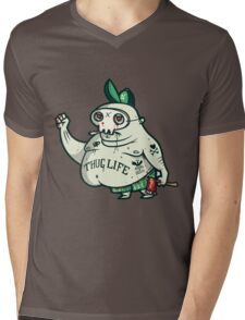 Thug Life Character. Mens V-Neck T-Shirt