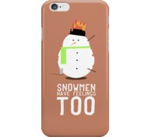 Love for Mr. Snowman  iPhone Case/Skin