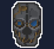 Pixel Corvo Attano's Mask - Dishonored Baby Tee