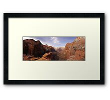 Zion National Park Panorama Framed Print