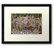 Rural Rustic Rundown Rocky Mountain Cabin Framed Print