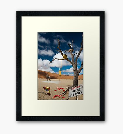 Lost in the dessert Framed Print