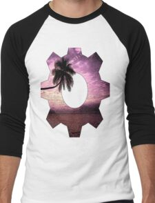 Palm tree ink pattern Men's Baseball ¾ T-Shirt